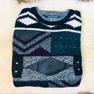 Vintage Campus Chunky Sweater